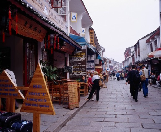 Xijie, Chinese town, Yangshuo, Guilin, Guangxi, China : Stock Photo