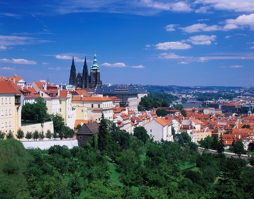 St. Vitus Cathedral, Prague, Czech : Stock Photo