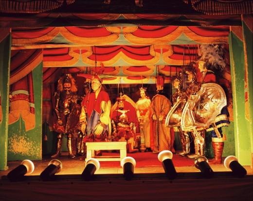 puppet show, Palermo, Sicilia, Italy : Stock Photo