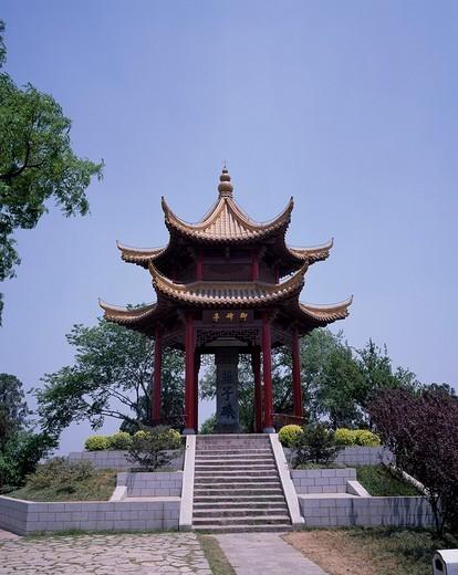 Stock Photo: 4034-5384 Beiting, Yanzhiji, Nanjing, Jiangsu, China, stairs, May