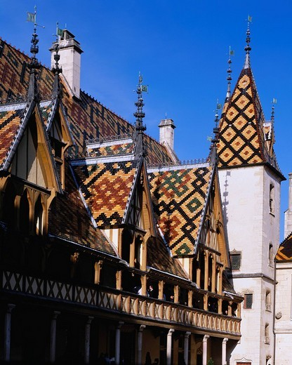 Hotel Dieu, Beaune, France : Stock Photo