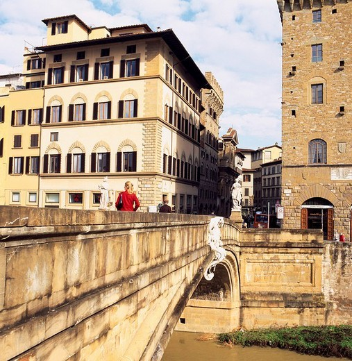 Stock Photo: 4034-54041 St Torinita bridge, Florence, Firenze, Italy