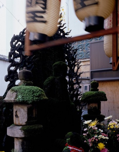 Stock Photo: 4034-54899 Water Budda, Hozenji temple, Chuo, Osaka, Osaka, Japan