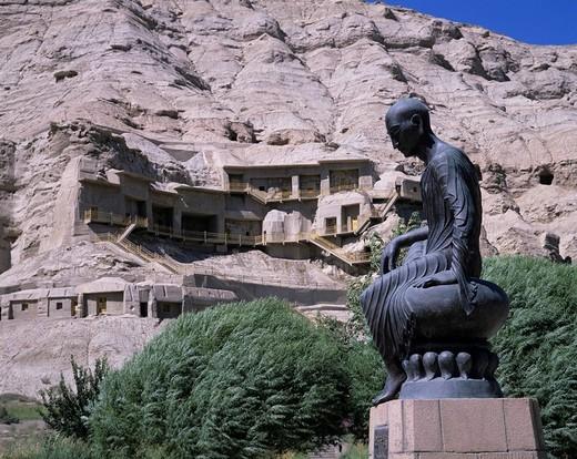 Kyzyl Qianfodong Images, Kuche, Xinjiang Uygur Autonomous Region, China : Stock Photo