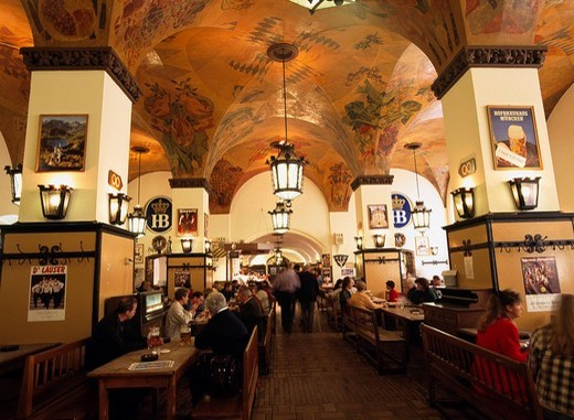 Hove Roy Haus Munich Beer hall Munich Germany : Stock Photo