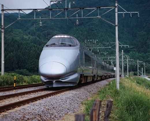 Yamagata Shinkansen Akaiwa - Niwasaka Japan : Stock Photo