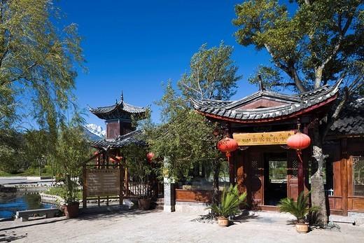 Shuheguzhen, Mt. Yulongxue, Lijiang, Yunnan Province, China, Asia, World Heritage, October : Stock Photo
