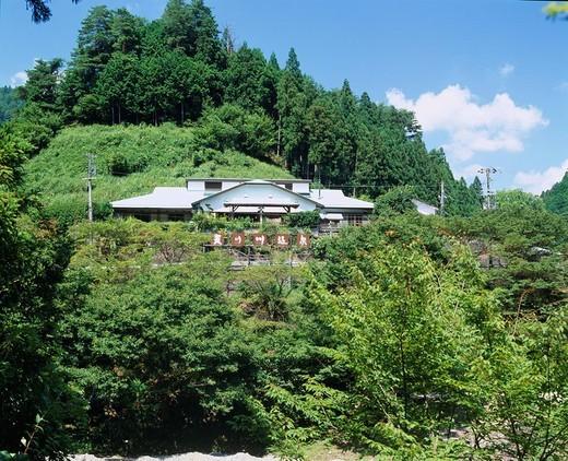 Hot spring of the Amanogawa, Tenkawa, Nara, Japan : Stock Photo
