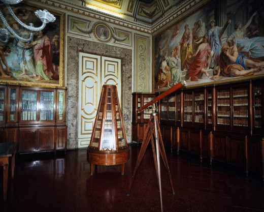 Bourbon King´s Palace, Library of previous residence hall, Caserta, Italy : Stock Photo
