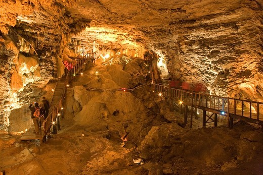Huanglong cave, limestone cave, Huanglong, Sichuan Province, China, World Heritage : Stock Photo