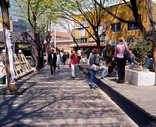 Stock Photo: 4034-6431 Insadong City View Seoul South Korea