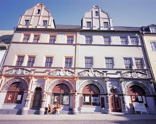 Cranach´s house, Goethe Road, Weimar, Germany : Stock Photo