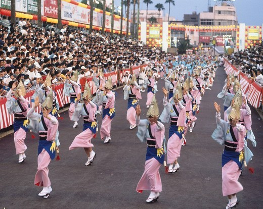 Awa Dance, Theater, Tokushima, Japan : Stock Photo