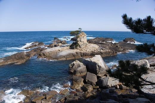 Sea, Kii peninsula, Taiji, Wakayama, Kinki, Japan, March : Stock Photo
