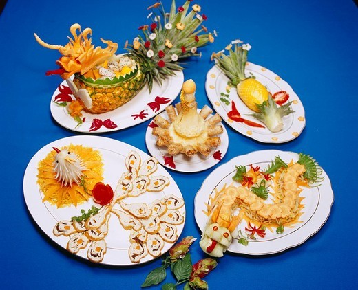 Hue Court dish Tinh Gia Vien Hue Vietnam Vietnamese Cuisine : Stock Photo