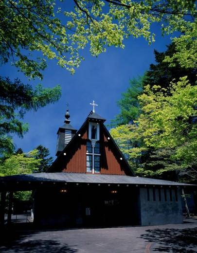 Stock Photo: 4034-68720 Saint Paul Catholic church Karuizawa Nagano Japan