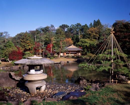 Fujita commemoration garden, Hirosaki, Aomori, Japan : Stock Photo