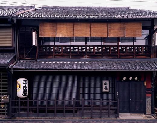 Stock Photo: 4034-68955 Terada_ya Fushimi Kyoto Kyoto New compilation group relations Japan Japanese_style hotel Paper lantern