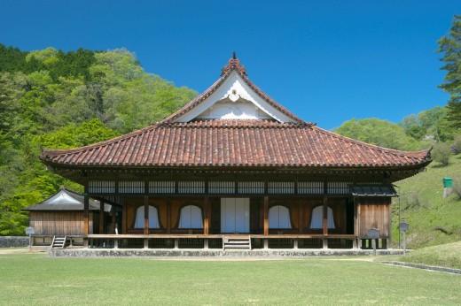 Old Shizutani school, fresh green, Bizenshi, Okayama, Japan, Sanyo : Stock Photo