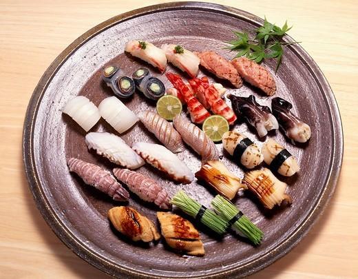 Stock Photo: 4034-69442 Nigiri sushi Japan Japanese Cuisine