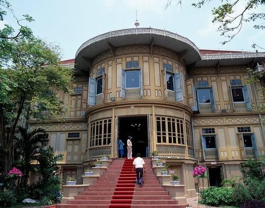 Vimanmek palace Bangkok Thailand April : Stock Photo