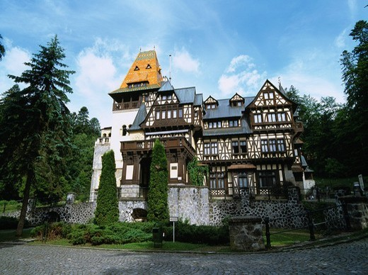 Castelul Pelisor castle Sinaia Rumania : Stock Photo