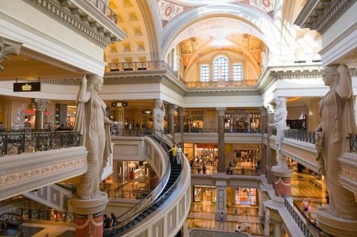 The Forum Shops, Palace 3, Caesars Palace, Las Vegas, United States of America : Stock Photo