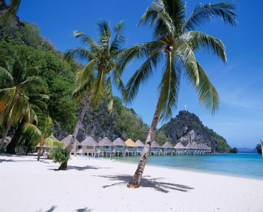 Stock Photo: 4034-7455 Club Noah Isabelle Beach Palawan Philippines