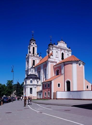 Stock Photo: 4034-74624 Sage Kathleen church, Vilnius, Lithuania, World Heritage