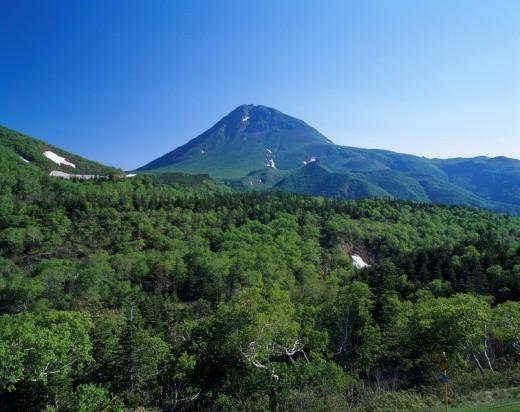 Mountain Green Fresh green Shiretoko pass Shiretoko pass Hokkaido Japan World Heritage : Stock Photo