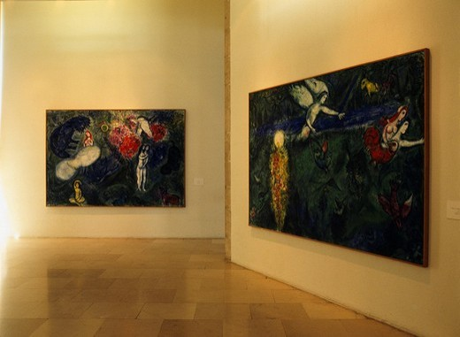 Stock Photo: 4034-76097 The Marc Chagall art museum Nice Cote d´Azur France Painting Art Exhibition