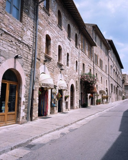 Stock Photo: 4034-76229 Sun Francis passage, Assisi, Italy