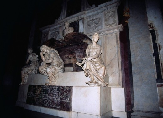 Stock Photo: 4034-76478 Opera di Santa Croce, Santa Croce church, Grave of Michelangelo, Florence, Italy