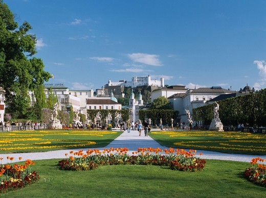 Stock Photo: 4034-77494 Mirabelle palace Garden World Heritage Salzburg Austria