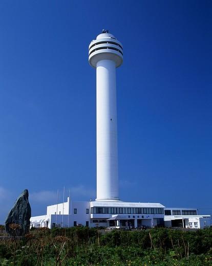 Tower of peace Nemuro Hokkaido Japan Blue sky : Stock Photo