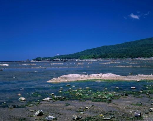 Stock Photo: 4034-80060 Unosaki Seashore Oga Oga peninsula Akita Japan