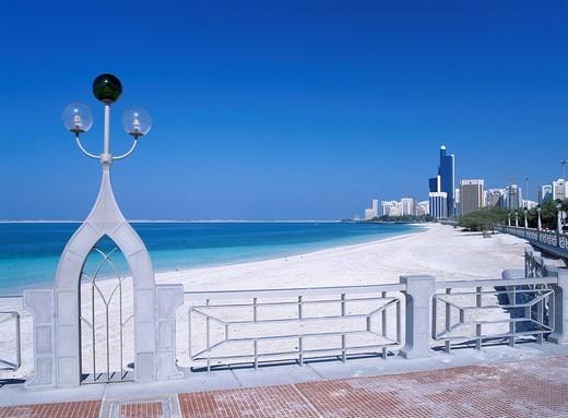 Coastline, Abu Dhabi, United Arab Emirates : Stock Photo
