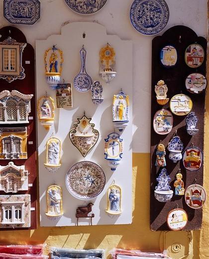 Plate Planter Folkcraft of Evora Evora Portugal : Stock Photo