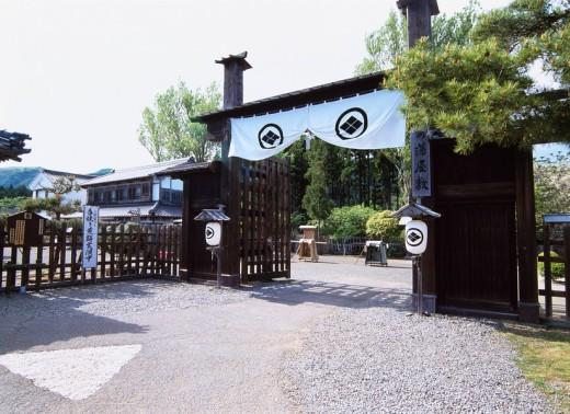 Matsumae domain mansion Matsumae Hokkaido Japan Gate Paper lantern : Stock Photo
