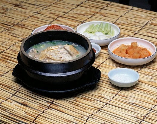 Samgyetang Kyongju South Korea Korean Cuisine : Stock Photo