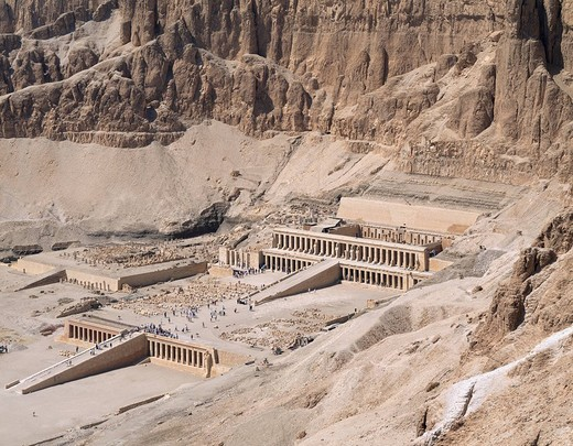 Stock Photo: 4034-82832 The Hatshepsut funerals and festivals, Luxor, Egypt
