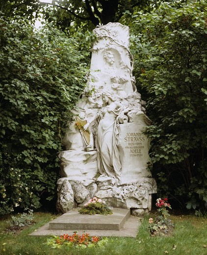 Jovan Strauss´s tomb Vienna Austria : Stock Photo