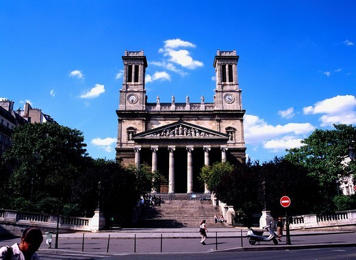 Sant Van Saint Paul church Paris France Europe : Stock Photo