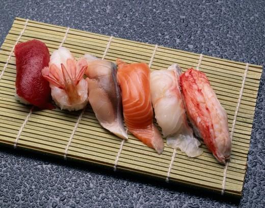 Sushi Japan Japanese Cuisine : Stock Photo