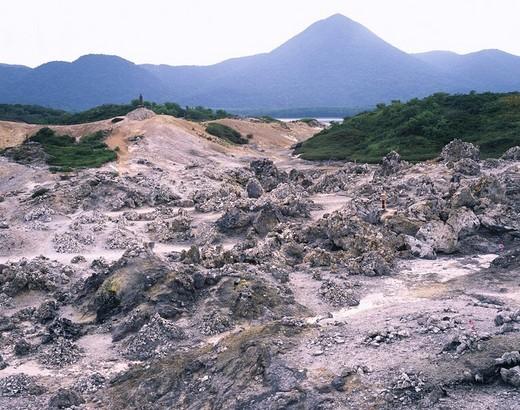 Infinite hell Osorezan Mutsu Aomori Japan Mountain : Stock Photo