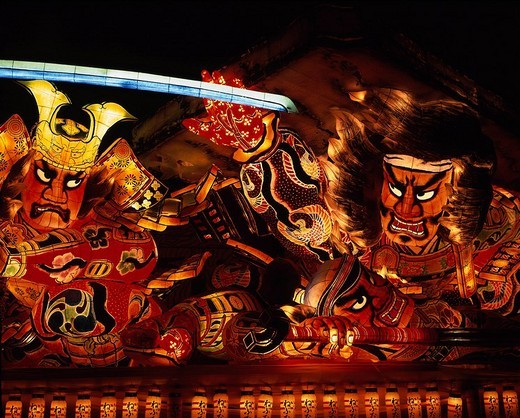 Stock Photo: 4034-9146 Aomori Nebuta Festival, Festival, Aomori, Japan