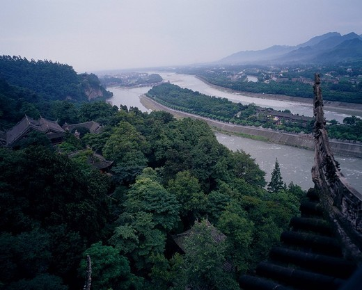 Dujiang yan, Near Chengdu, Sichuan, China : Stock Photo