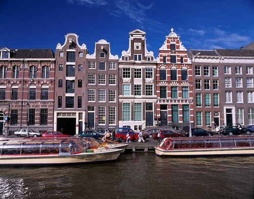 Stock Photo: 4034-93780 canal City View Mund a tower the neighborhood Amsterdam The Netherlands