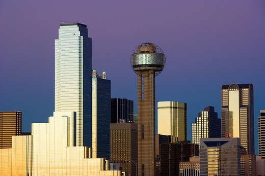 Downtown, Building group, City View, Dallas, Texas, United States : Stock Photo