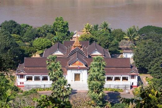 Stock Photo: 4034-94653 Royal palace museum, Mekong river, Lampabarn, Laos, Asia, World Heritage, January